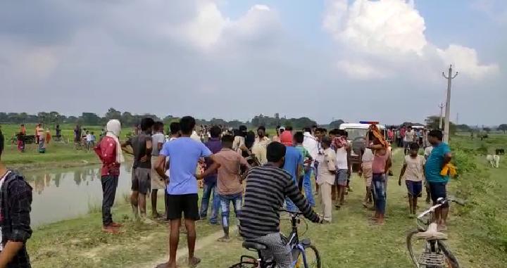 छपरा: एक ही परिवार के तीन लोगों की गल्ला रेत कर हत्या ,नहर से मिला शव