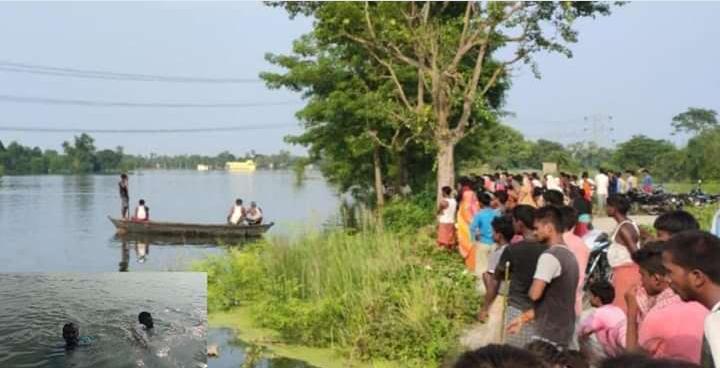 छपरा:मकेर में बाढ़ के पानी के तेज बहाव में बह गए एक डॉक्टर एवं कंपाउंडर डूबने से हुई मौत