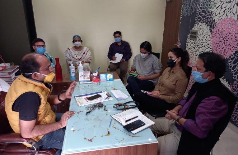 केंद्रीय टीम ने लिया आयुष्मान भारत कार्यक्रम का जायजा