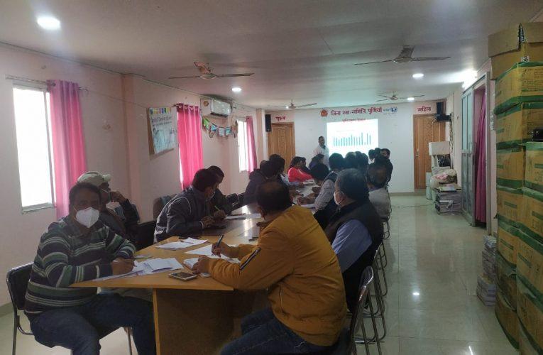 जापानी इंसेफेलाइटिस टीकाकरण अभियान की समीक्षात्मक बैठक आयोजित