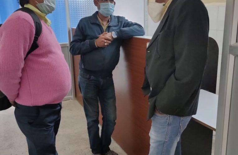 सदर अस्पताल के लक्ष्य प्रमाणीकरण के लिए क्षेत्रीय कार्यक्रम प्रबंधक ने किया निरीक्षण